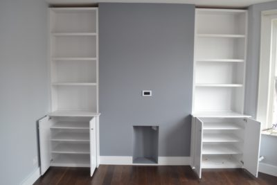 Painting & Decorating Walls & Built-In Cabinet N3